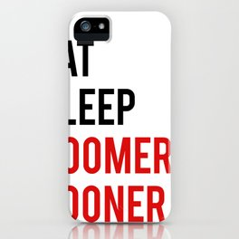"""Funny wall art """"Eat Sleep Boomer Sooner"""" Study Poster Teen Room Decor Printable Quote Funny Poster P iPhone Case"""