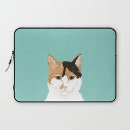 Calico Cat - Cute cat black, white, tan, orange tabby cat, cute kitten Laptop Sleeve