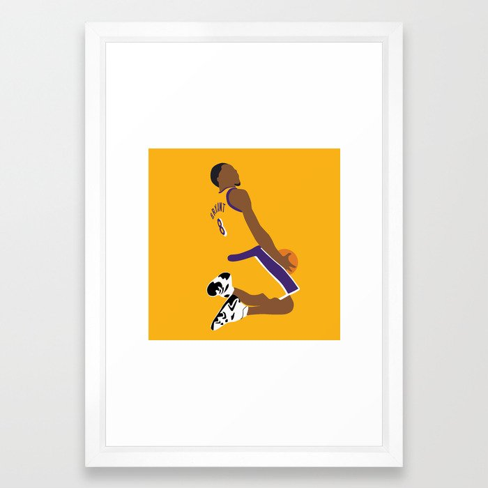 NBA Players | KobeBryant Dunk Framed Art Print by fabcaso | Society6