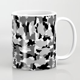 black and white Background Pattern Camo Coffee Mug