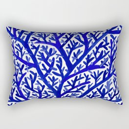 Fan Coral – Navy Rectangular Pillow