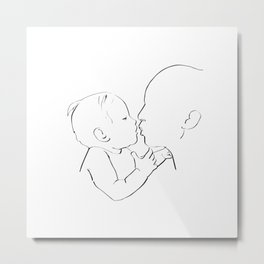 Baby with mom Metal Print