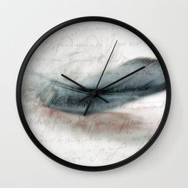 DOVES FEATHER Wall Clock