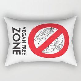 Vegan Free Zone Rectangular Pillow