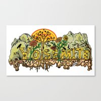 yosemite Canvas Prints featuring Yosemite  by Geryes