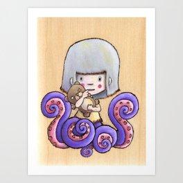Side Show Girl Art Print