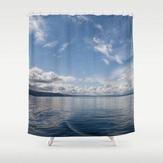 Infinite: Oslo Harbor Shower Curtain