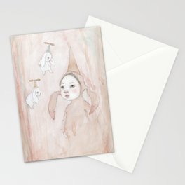 Lucy and the flying rabbits Stationery Cards
