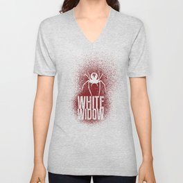 White Widow Unisex V-Neck