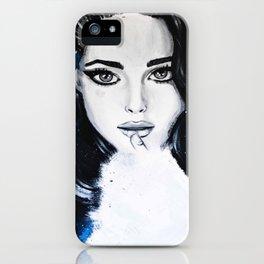 Miss M. in Blue  iPhone Case