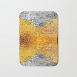 Golden foil and concrete Bath Mat