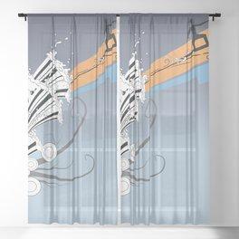 Waves catcher Sheer Curtain