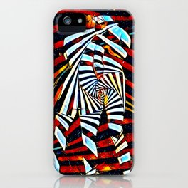 6805-LB Two Become as One Love Energy Abstraction iPhone Case