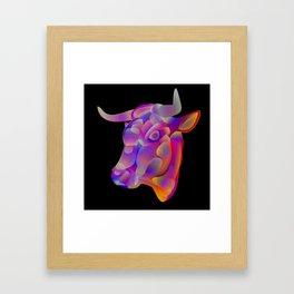 """""""Determination"""", digital animal art illustration Framed Art Print"""
