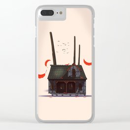 Wooden Shack Clear iPhone Case