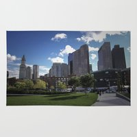 boston Area & Throw Rugs featuring Boston by Jill Deering