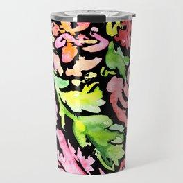 flora series xv in black Travel Mug