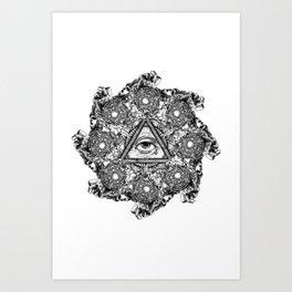 Personal wheel of samsara Art Print