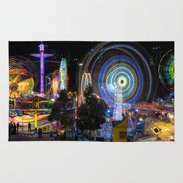 Fairground Attraction panorama Rug