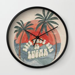 Este Debe Ser el Lugar (This Must Be the Place in Spanish) Wall Clock