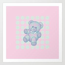 Snoozy – the Little Teddy Bear Art Print