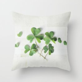Shamrock Family Throw Pillow
