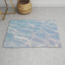 Crystalline Sea - Iridescent Blue Rug