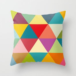 Colourful triangles Throw Pillow