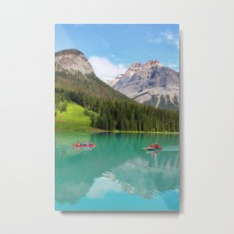 Boats on Emerald Lake Metal Print