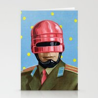robocop Stationery Cards featuring Pink Robocop by FAMOUS WHEN DEAD