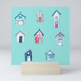 Beach Hut Houses Beach Life Mini Art Print