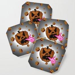 Soul Eater Jack o'lantern . Halloween Pumpkin Coaster