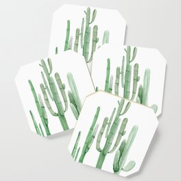 Three Amigos White + Green by Nature Magick Coaster
