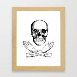 Skull and Mechanical Arms Framed Art Print