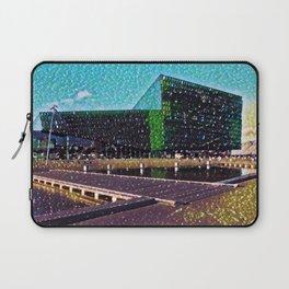 Iceland Harpa Concert Hall Artistic Illustration Gems Style Laptop Sleeve