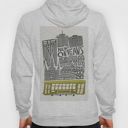 New Orleans City Cityscape Hoody