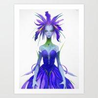 Iris Fairy Art Print
