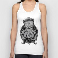 cthulu Tank Tops featuring The Octopus KIng by StinkBrain