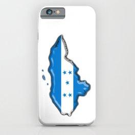 Honduras Map with Honduran Flag iPhone Case