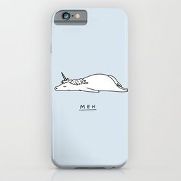 Meh Unicorn iPhone Case