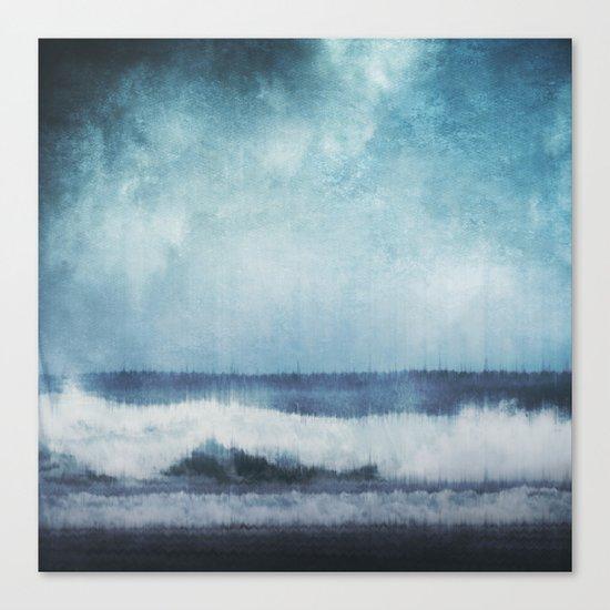 Wave Glitch 1 Canvas Print