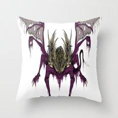 Gaping Dragon (Dark Souls) Throw Pillow