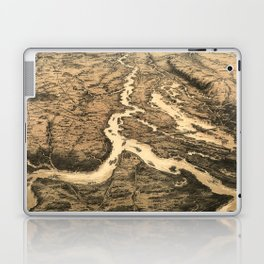 Vintage Ohio & Mississippi River Junction Map (1861) Laptop & iPad Skin
