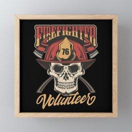 19 Firefighter_4 Framed Mini Art Print
