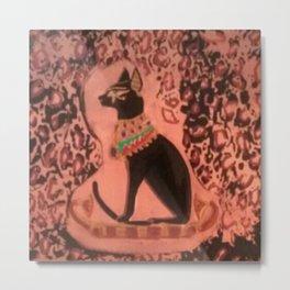 Bastet (Egyptian Cat Goddess) Repoussé Metal Print