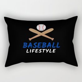 Baseball Lifestyle Rectangular Pillow