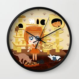 Kittie Girl Wall Clock