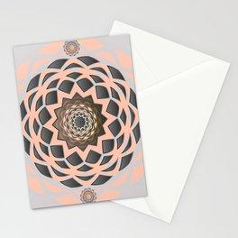 Solar Glow Black Pearl Meditation Mandala Stationery Cards