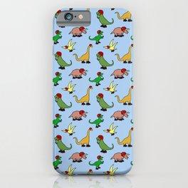 Roller Derby Dinosaurs Pattern iPhone Case