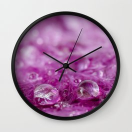 Drops in feathers Wall Clock